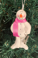Load image into Gallery viewer, Singer Snowman Tree Ornament