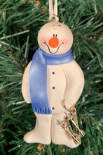 Load image into Gallery viewer, Skier Snowman Tree Ornament