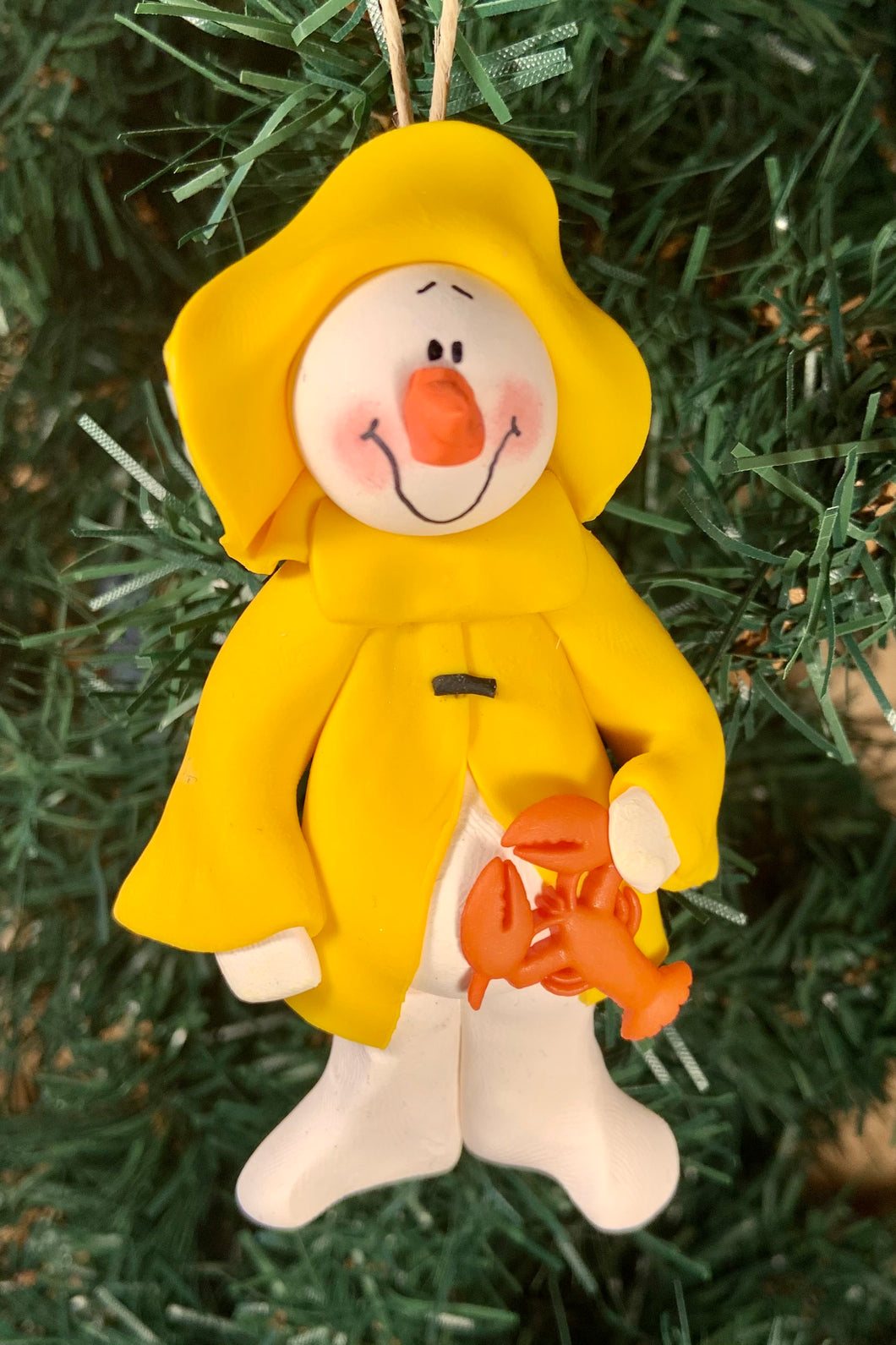 Snowman Fisherman Tree Ornament
