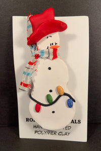 Snowman with Lights Pin #101 One-Of-a-kind