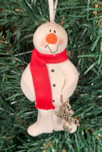 Load image into Gallery viewer, Softball Snowman Tree Ornament