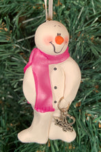 Load image into Gallery viewer, Yoga Snowman Tree Ornament