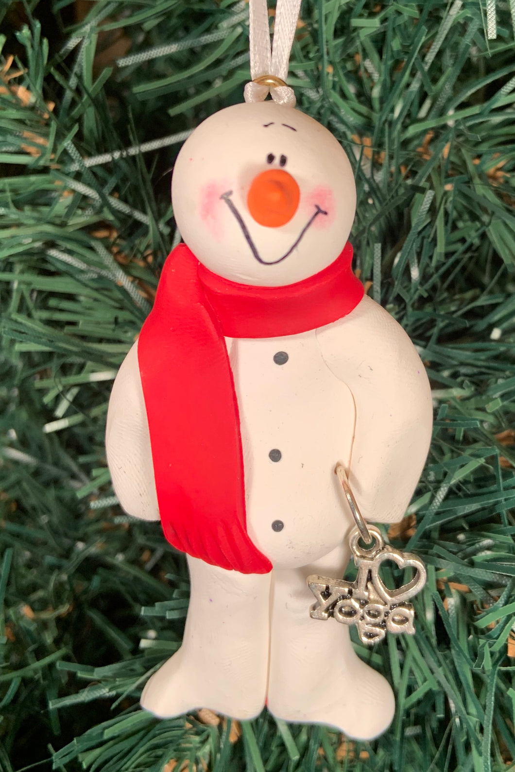 Yoga Snowman Tree Ornament