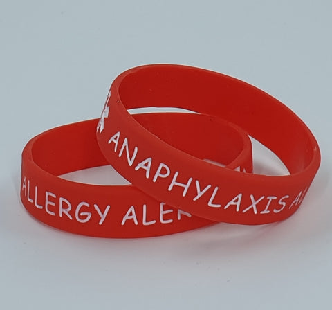 Anaphylaxis Alert Silicone Wristband