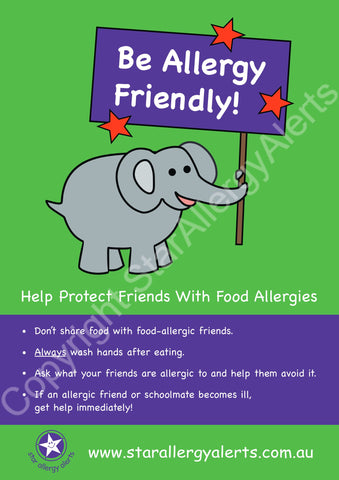 Be Allergy Friendly Poster
