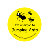 I'm allergic to Jumping Ants - sticker