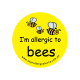 I'm allergic to Bees - badge