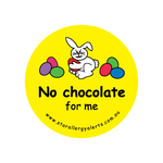 No Chocolate for Me - sticker