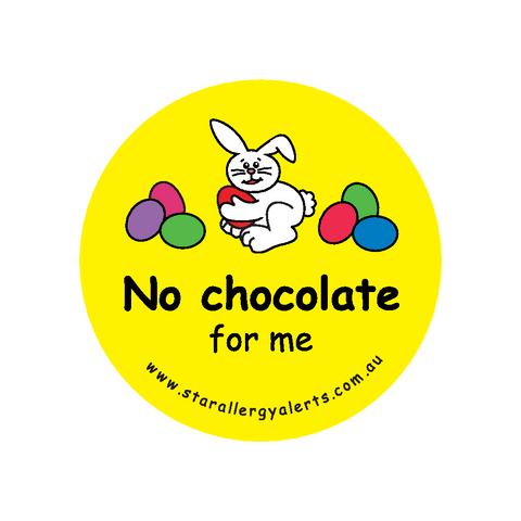 No Chocolate for Me - badge