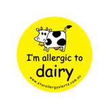 I'm allergic to Dairy - badge
