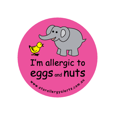 I'm allergic to Eggs and Nuts (pink) - sticker