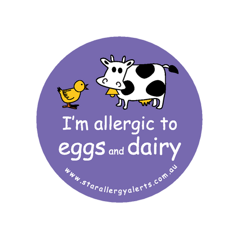 I'm allergic to Eggs and Dairy - sticker