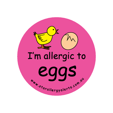 I'm allergic to Eggs (pink) - sticker