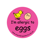 I'm allergic to Eggs (pink) - badge