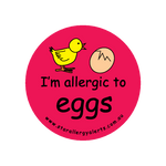 I'm allergic to Eggs (red) - badge