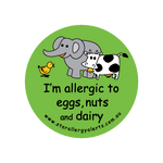 I'm allergic to Eggs Nuts and Dairy - sticker
