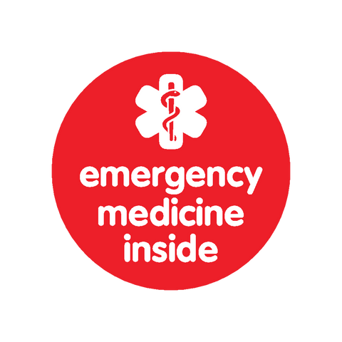 Emergency Medicine Inside - sticker