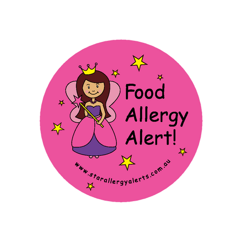 Food Allergy Alert Fairy Princess - badge