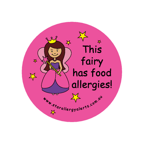 This Fairy has Food Allergies - badge