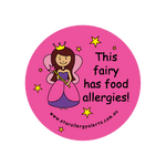 This Fairy has Food Allergies - sticker