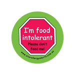I'm Food Intolerant - badge