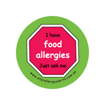 I have Food Allergies, Just ask me - sticker