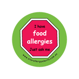 I have Food Allergies, Just ask me - badge