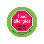 Food Allergies, Please don't feed me - badge