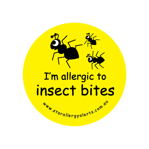 I'm allergic to Insect Bites - badge
