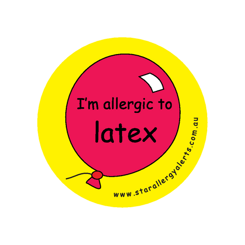 I'm allergic to Latex - badge