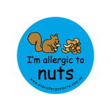 I'm allergic to Nuts (Squirrel Blue) - badge
