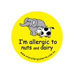 I'm allergic to Nuts and Dairy - sticker