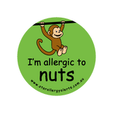 I'm allergic to Nuts (Monkey Green) - badge