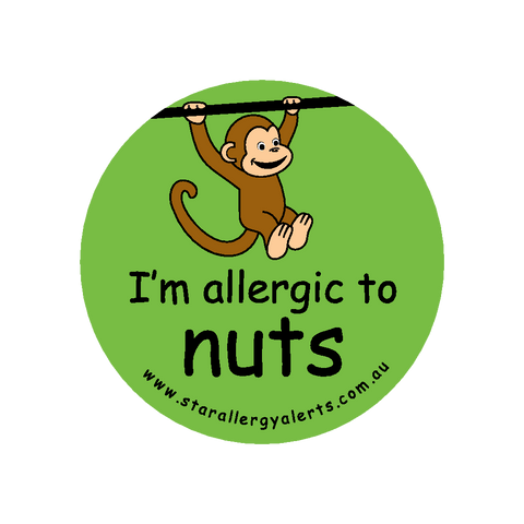 I'm allergic to Nuts (Monkey Green) - sticker