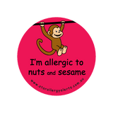 I'm allergic to Nuts and Sesame - sticker