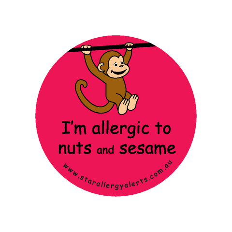 I'm allergic to Nuts and Sesame - badge