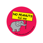 No Peanuts for me - sticker