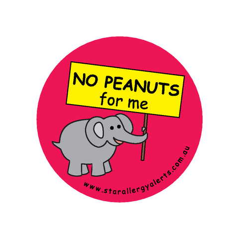 No Peanuts for me - badge