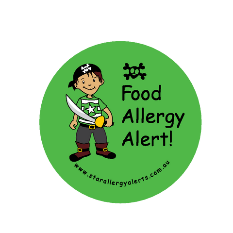 Food Allergy Alert Pirate - badge