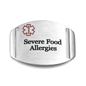 Stainless Steel Engravable 'Severe Food Allergies' Tag