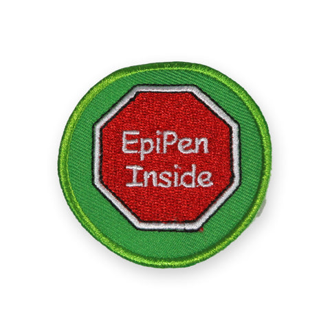 Epipen Inside sew-on Badge
