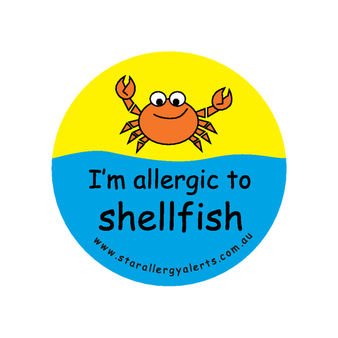 I'm allergic to Shellfish - badge