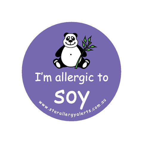 I'm allergic to Soy - badge