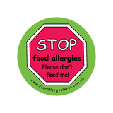 Stop, Food Allergies-Please don't feed me - badge