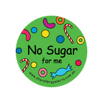 No Sugar for Me - sticker