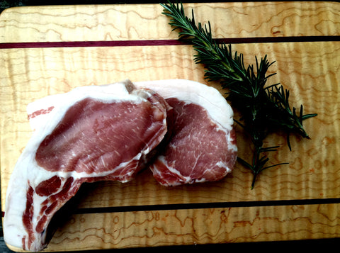 Brined Pasture Raised Pork Chops