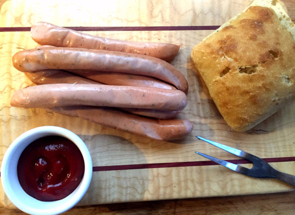 Nitrate Free Pastured Turkey Hot Dogs