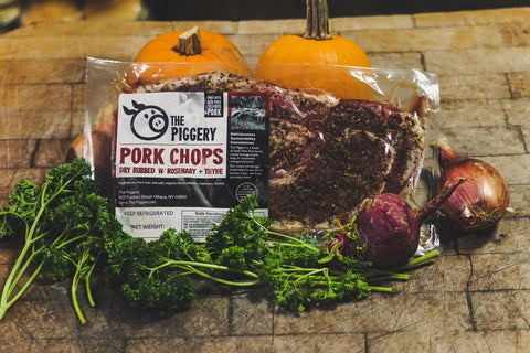 Rosemary Thyme Rubbed Pastured Pork Chops (2/pack ~1.4lbs)