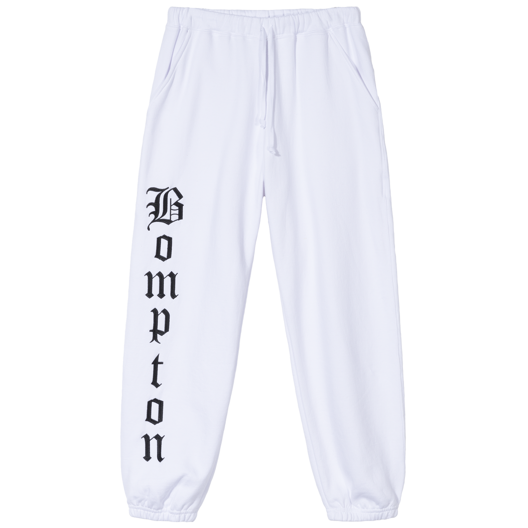 BOMPTON SWEAT PANTS - WHITE