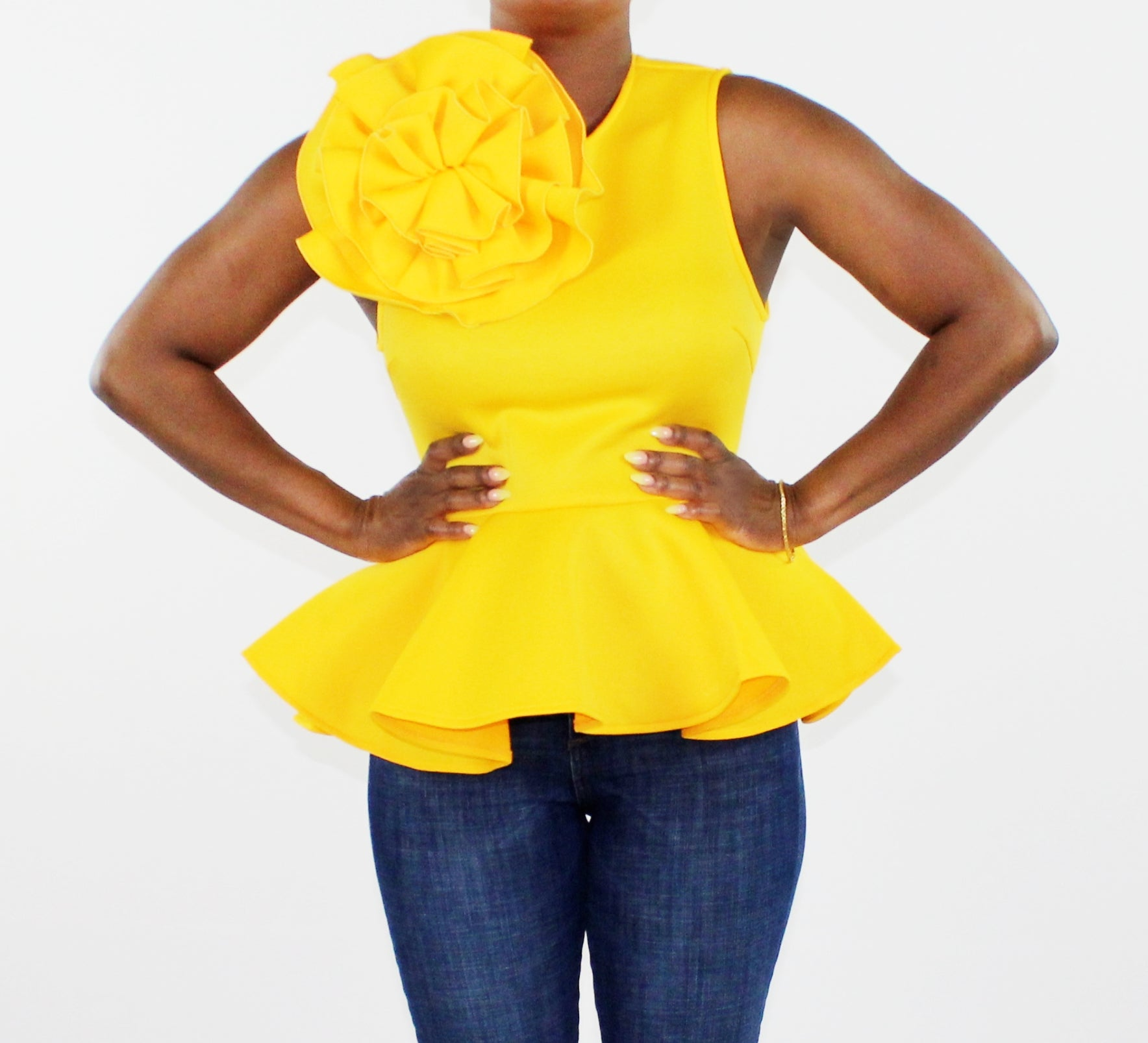 Large Flower Peplum Top (Not eligible for coupon codes or additional discount)